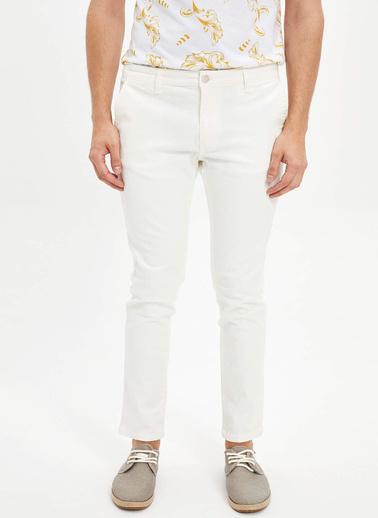 DeFacto Slim Fit Chino Pantolon Beyaz